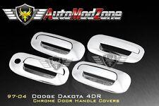 97-04 Dodge Dakota Chrome 4 Door Handle Cover w/o PSG Keyhole