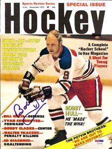 Bobby Hull Autographed Signed Hockey Magazine Cover Winnipeg Jets PSA/DNA U93648