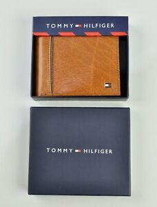 TOMMY HILFIGER 100% Leather Oxford Slim Wallet For Men