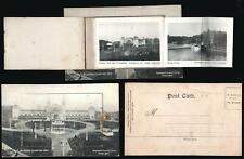 1904 VINTAGE BRADFORD EXHIBITION OPENING WINDOW with PULL OUTS POSTCARD