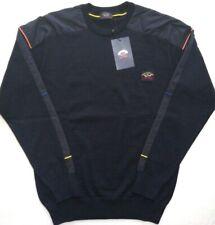 New Mens Paul & Shark Sweater Navy Blue  WOOL Knit Size XL