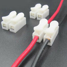 100X Car Electrical Cable Connector Splice Lock Wire Terminal Crimp Self Locking