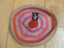 MONSOON ACCESSORIZE WOOL ANGORA BLEND STRIPED BERET HAT MULTICOLOURED