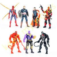 "14 Pcs Second Generation Avengers 7"" PVC Action Figure Toy/Gift, Venom, Iron Man"