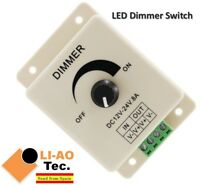 LED Dimmer DC 24V 12V 8A Light Bright Adjustable Single Color LED Controller