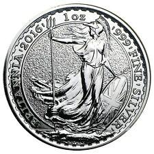 2016 U.K. 2 Pound Silver Britannia .999 1oz. Brilliant Uncirculated - IN-STOCK!!
