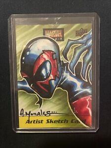 2020 Upper Deck Marvel Ages Sketch Card Spider-Man 2099 By Albert Morales