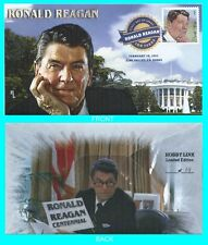 Ronald Reagan  First Day Cover Color cancel Type 2