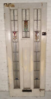 Vintage Antique Stained Glass Door (09935)NS