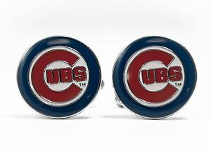Chicago Cubs Cufflinks MLB Baseball
