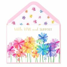NEW  Papyrus Greeting Card  Vibrant Growing Flowers Sympathy Card