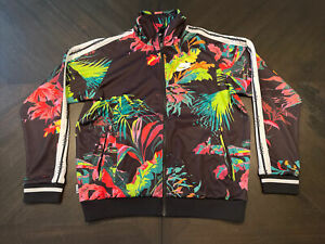 Nike NSW Floral Print Track Jacket Multicolor Men's Size Small Full Zip