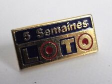 Pin's vintage french games 5 weeks Lotto in couleur years 90s lot P003