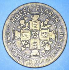 New listing Rare And Seldom Encountered 1849 Victoria Model Florin - Brass Alloy - *24769118