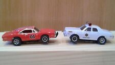 Dukes Of Hazzard General Lee Dodge Charger 1969 & Roscoe Police Slot Car Set NEW