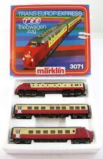 Märklin 3071 H0 Trans Europ Express TEE Triebwagenzug mit Licht OVP X00001-01843