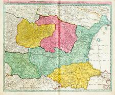 c1720 Bulgarien Bulgaria Rumänien Romania Moldau Ukraine Kolorierte Kupfer