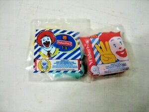 Mc Donalds Fisher Price toddler happy meal toys, 2 each brand new sealed