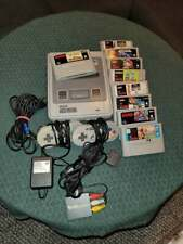Super Nintendo SNES 16 bit euro with 2 controllers, hdmi adapter and 9 games