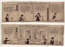 Little Orphan Annie by Gray - 22 large 5 column daily comic strips - Oct. 1935