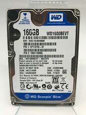 "Western Digital Scorpio Blue WD1600BEVT 160GB 2.5"" SATA  Laptop Hard Drive"