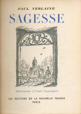 Paul Verlaine - Sagesse - Illustrations d'André Beaurepaire - 1944 - Ed. Num.