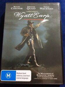 Wyatt Earp - Region 4 DVD - Great Condition - Kevin Costner - FREE POST