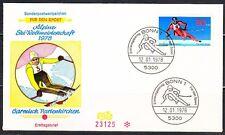 Germany 1978 FDC cover Mi 958 Giant Slalom ,Alpine skating .Ersttagsbrief