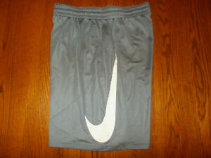 NIKE DRI-FIT GRAY ATHLETIC SHORTS MENS LARGE EXCELLENT CONDITION