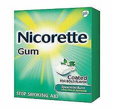 NicoretteSpearmint Burst 2mg 100 Pcs Nicotine Gum Stop Smoking Exp:2022++
