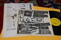 Revenge Of Winston LP Italian Wc 1° St Orig Italy Garage NM Co Insert