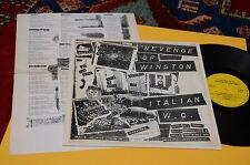 REVENGE OF WINSTON LP ITALIAN WC 1°ST ORIG ITALY GARAGE NM CO INSERTO