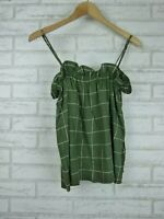 MLM THE LABEL Top Sz M Green, White check print