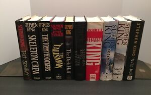 Stephen King 1st Edition 10 Hardcover Lot: Skeleton, Tommyknockers, Pet Sematary