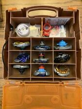 Lot of Beyblade Toys Beyblades Parts And Accessories With Case