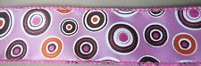 "5 Yds. LULU CHOCOLATE & PINK CIRCLES RIBBON  1 1/2"" W."