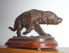 Statue régule Garard  circa 1930 trophée chasse chien de montagne à l'arrêt