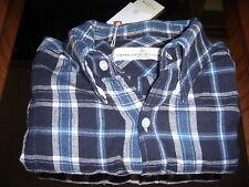 "Camicia "" Golden Goose "" Camicia Uomo Manica Lunga Scacchi Blu TG.S"