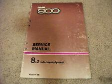1979-1986 SAAB 900 Interior Equipment Service Manual