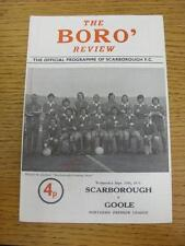 25/09/1974 Scarborough v Goole Town  (Light Crease). This item is in very good c