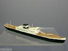 "VINTAGE HAND-BUILT WOOD   MODEL  ""RIVER XXX ""  CARGO SHIP"