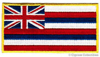 HAWAII STATE FLAG embroidered iron-on PATCH HAWAIIAN ISLANDS HI applique NEW