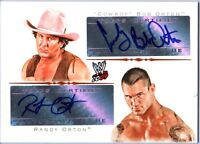 WWE Randy Orton and Cowboy Bob Orton 2009 Topps DUAL Authentic Autograph Card