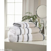 New Soft Absorbent 100% Egyptian Cotton Luxury Stripe Hand Bath Sheet Towels WT