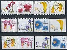 M153) CANADA. 2004/05. utilizzato. SG 2303 a 2313b. BOBINA & LIBRETTO. FIORI. C £ 15+
