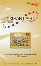 Chile 2009 Brochure XXI UPAEP Meeting Santiago - no stamps
