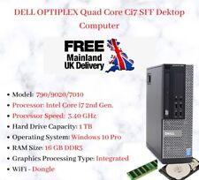 DELL OPTIPLEX QUAD CORE i7 PC COMPUTER DESKTOP SFF WIN 10 PRO 3.40GHz WiFi