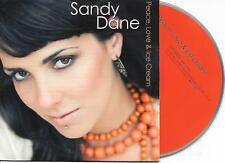 SANDY DANE - Peace, Love & Ice cream CD SINGLE 2TR Dutch Cardsleeve 2008 RARE