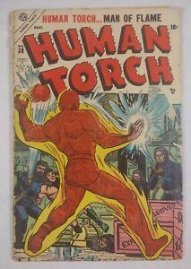 Human Torch #38 (1954 Atlas/Marvel) Golden Age Comic Book RARE, Sub-Mariner Read