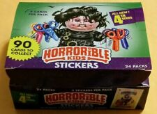 2019 HORRORiBLE KIDS 4th SERIES 4 (EMPTY BOX & 24 PACK WRAPPERS ) RARE HTF!